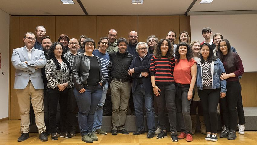 Murcia, 26.02.2020.-Conferencia de Emilio Morenatti, Centro Cultural Las Claras, Fundación Cajamurcia.